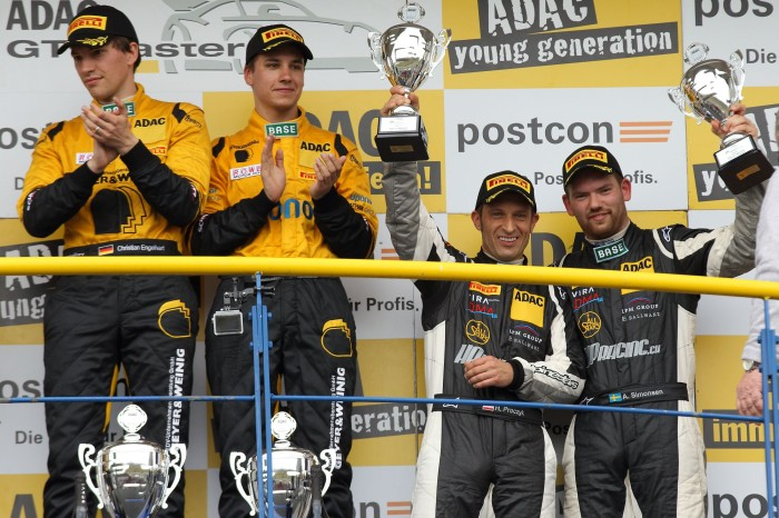 Double podium for the new HP Racing team at the ADAC GT Masters