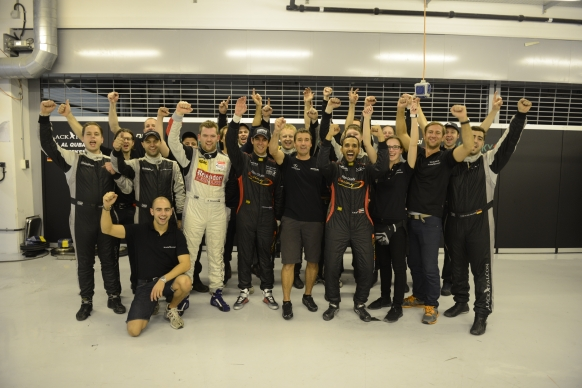 The triumphant victory ride – Gulf 12 Hours