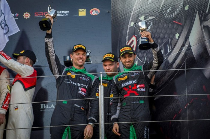 A superb double podium for Team Black Falcon at the final Blancpain Endurance round