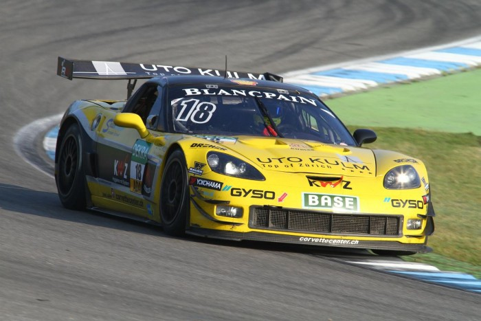 Andreas Simonsen at the wheel of the Corvette at the ADAC GT Masters finale